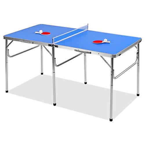 DREAMADE Tavolo da Ping Pong Pieghevole e Portatile Tavolo Ping Pong Outdoor con Racchetta da Ping Pong 152,4x76,2x76,2cm