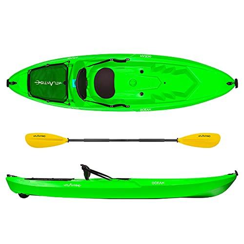 ATLANTIS Kayak - Canoa Ocean Verde Lime - schienalino + ruotino + pagaia