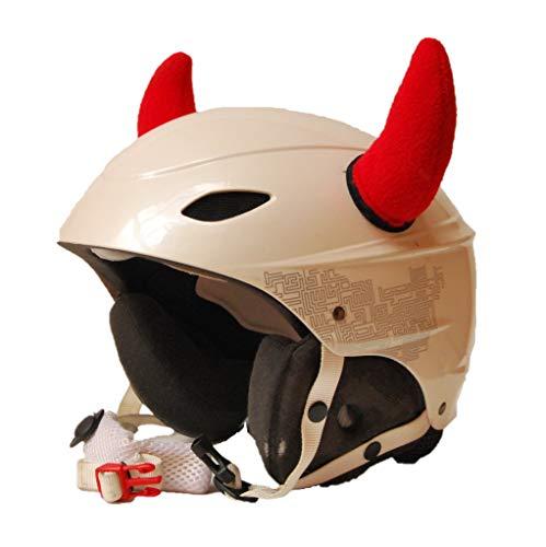 Corna rosse per casco da sci, casco da snowboard, casco da moto, casco da bicicletta, casco da skateboard, casco da skate