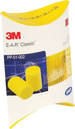 3M E-A-R, tappi per le orecchie in forma classica, SNR 28dB - 50 paia