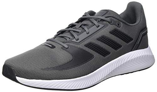 adidas RUNFALCON 2.0, Scarpe da Corsa Uomo, Grey Five/Core Black/Grey Three, 42 2/3 EU