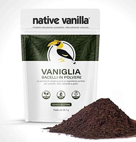 Baccelli di vaniglia grezzi in polvere (56,7 g) - senza zuccheri aggiunti - per caffè, dolci, gelato