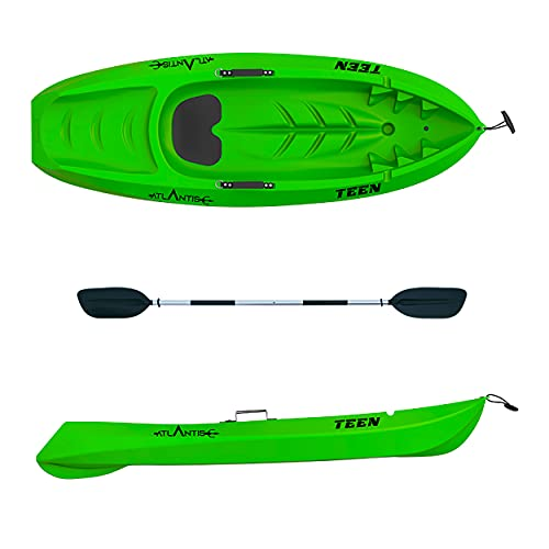ATLANTIS Kayak-Canoa Bambino Teen Verde Lime cm 182 con pagaia