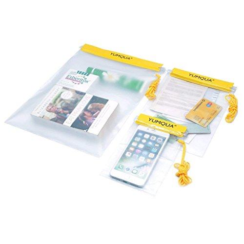 YUMQUA Borse Impermeabili, Custodia Impermeabile per Fotocamera/iPad/Telefono/Mappa/Documento e Altro - Set di 3