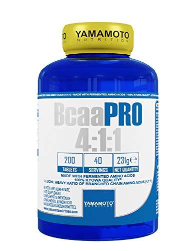 Yamamoto Nutrition Bcaa PRO 4:1:1 Kyowa Quality integratore alimentare di aminoacidi ramificati in rapporto 4:1:1 200 compresse