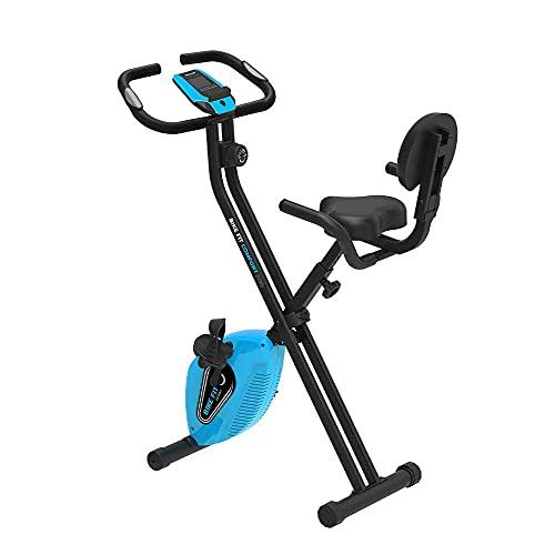 PRIXTON - Cyclette Pieghevole per Fitness con 8 livelli i resistenza, Ruota da 1,5 kg, Pieghevole e con Display a LED con contachilometri, velocità e calorie   Bike Fit Pro BF200