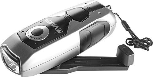 Varta 17680101401 Torcia LED a mano DYNAMO portatile LED con carica a dinamo, 28 Lumen, 100% Resistente agli urti e idrorepellente, batteria ricaricabile