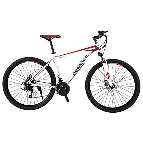 TRGCJGH Freno A Doppio Disco da Mountain Bike da Uomo A 21 velocità 29 Pollici Bici da Città per Tutti I Terreni Solo per Adulti Ciclismo Esterno Sospensione Anteriore A Coda Dura,B