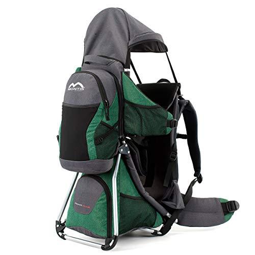MONTIS Hoover Nexus, Zaino Porta Bimbo Premium, Fino a 25kg (Verde)