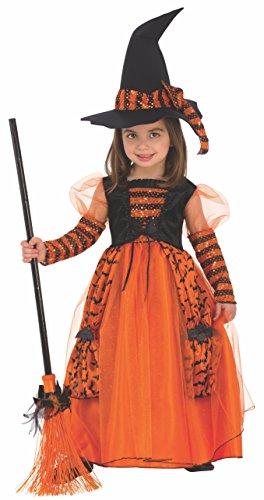 Rubie's 510567-S - Costume da strega brillante per bambina, 3-4 anni
