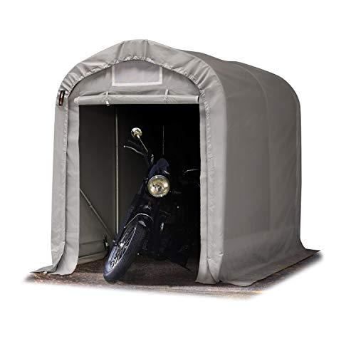 TOOLPORT Tenda Garage 1,6 x 2,4 m Tenda per Il Bestiame Tenda Capannone in PVC ca. 550 g/m² e Stabile Costruzione in Acciaio Grigio