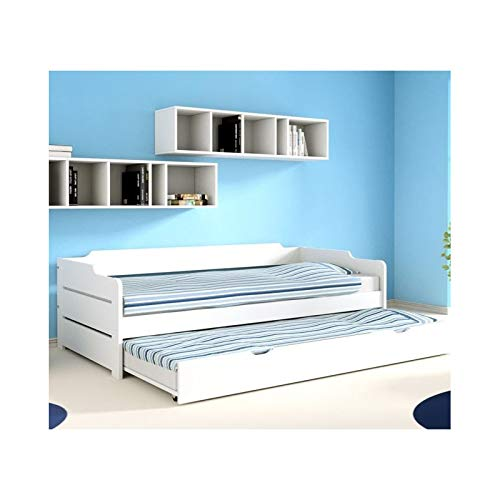 Alfred & Compagnie - Arthur, letto estraibile bianco, 90 x 200 cm
