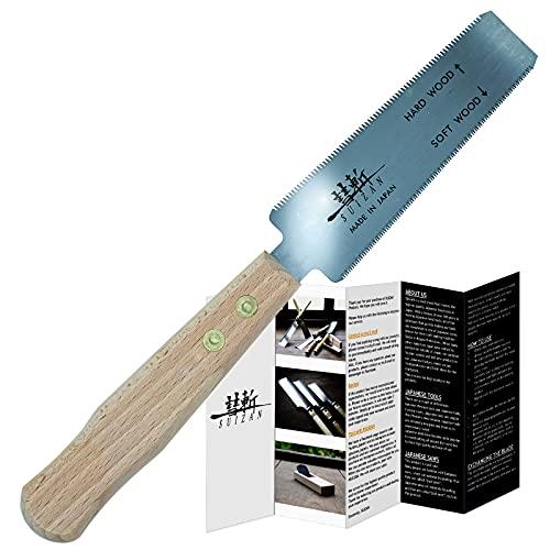 Suizan - Sega a filo giapponese per legno duro e legno conifero da 5 pollici