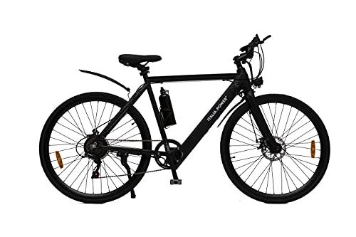 Italia Power E- Bike Ibrida, Bicicletta elettrica Unisex Adulto, Nero, M