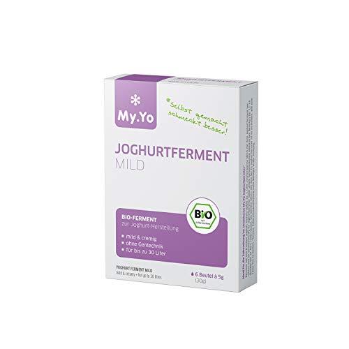 My.Yo - Fermenti biologici per yogurt delicato   6 x 5 g   Fermenti per la preparazione di massimo 30 l di yogurt