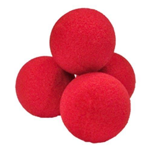 SOLOMAGIA Palline di Spugna Soft - Set di 4 Palline 4.5 cm - Rosse - Magia con Palle e Palloncini - Giochi di Magia