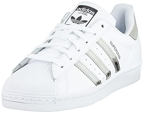 adidas Superstar W, Scarpe da Ginnastica Donna, Ftwr White/Silver Met./Core Black, 39 1/3 EU
