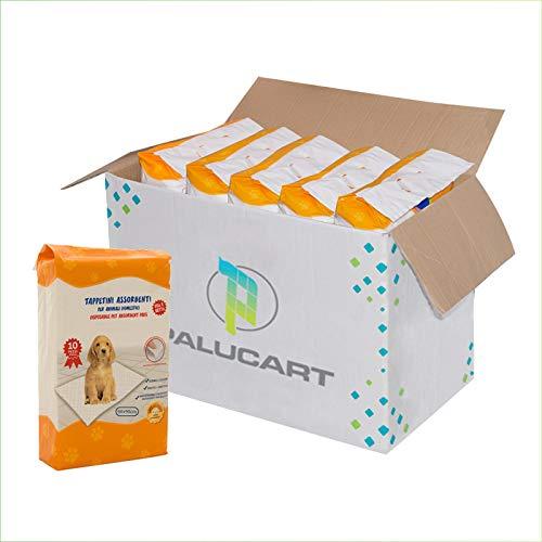 Palucart tappetini igienici per Cane 60x90 100 Pezzi traversine Cani Animali Domestici con Adesivo Anche per Gatti Anti Odore