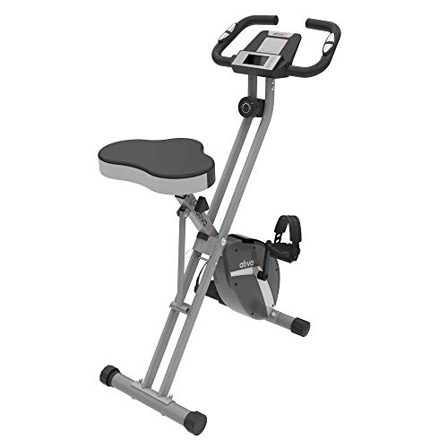 ATIVAFIT - Cyclette Verticale, Pieghevole, Magnetica, reclinabile, per Uso Interno, Sedile Grande.