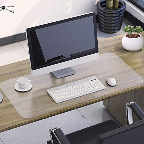 NATRKE Sottomano da Scrivania Trasparente in PVC, 800x400x1.5mm Grande Tappetino da scrivania, Copertura per Tavolo Antiscivolo Impermeabile, protezione per tavolo da scrivania per ufficio e casa