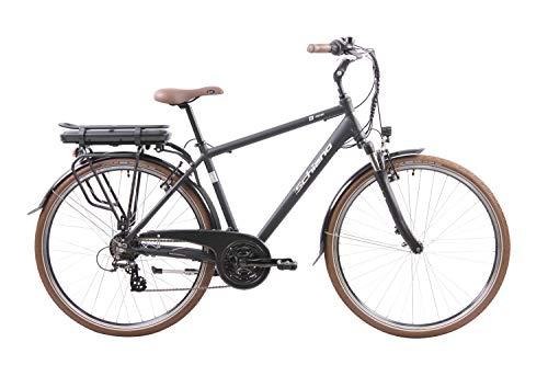 F.lli Schiano E- Ride, Bicicletta elettrica Uomo, Nera, 28''