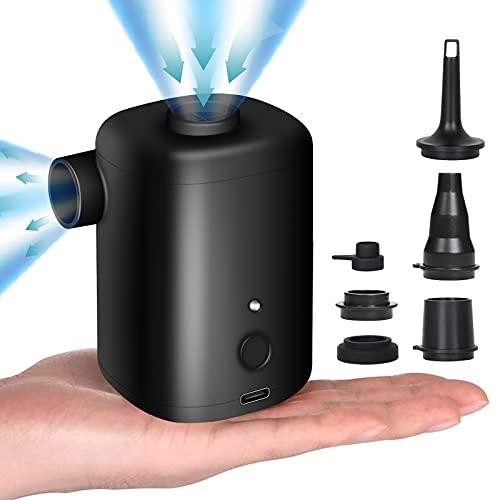 FreeLionVon pompa d'aria elettrica 3000mAh USB batteria ricaricabile per gommoni/sgonfiatore 5 ugelli aria materasso pompa batteria ricaricabile piscina giocattoli, letti materasso aria, anello nuoto