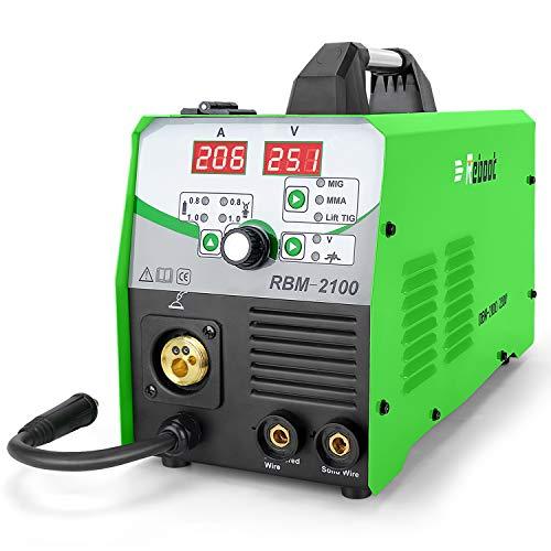 Reboot MIG Saldatore 210A IBGT 230V Gas e Gasless MIG/ARC/Lift TIG Saldatore 4 in 1 1KG/5KG Flux Core/Solid Wire MIG Inverter Saldatrice MMA MIG MAG