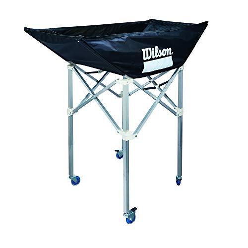 Wilson, Pallavolo, Carrello porta-palloni pieghevole, Nero, Con ruote, Alluminio, Per un massimo di 24 palle, Indoor, WTH180300