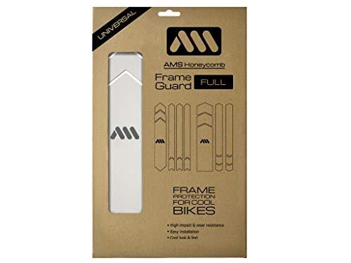 All Mountain Style AMSFG5CLSV Protezione telaio XXL ad alto impatto - Protegge la tua bicicletta da graffi e ammaccature, Chiaro/Argento