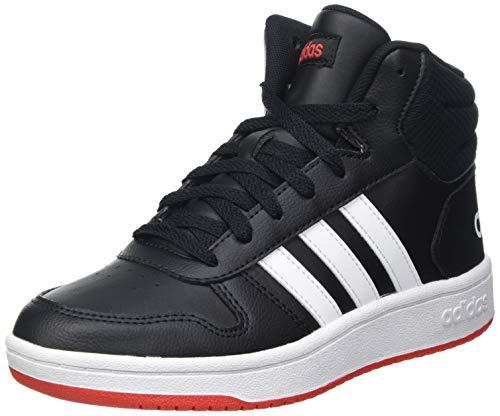 adidas Hoops Mid 2.0 K, Scarpe da Basket, Core Black/Ftwr White/Vivid Red, 40 EU