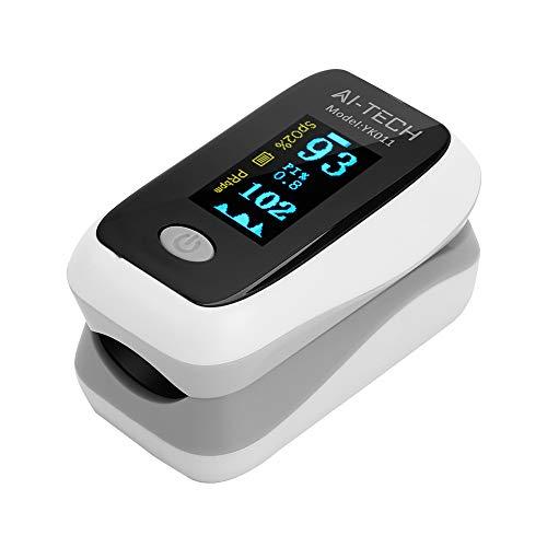 Saturimetro da dito sensore di saturazione di ossigeno e polso cardiofrequenzimetro di colori diversi con OLED display (A)