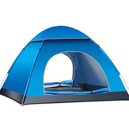 SANOTO Tenda da Campeggio, Tenda Campeggio 4 Posti, Tenda Pop Up 200x200cm Facile da istantanea, Impermeabile e Ben Ventilata, Adatta per Campeggio, Viaggi, Trekking, Spiaggia, Cortile, Parco