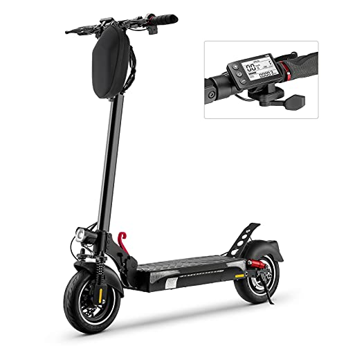 iScooter Monopattino Elettrico iX4, Motore 500W, 10'' Fuoristrada, 40 Km di Autonomia, Velocità Fino a 45 Km/h, Monopattino Elettrico Adulti Pieghevole, Batteria Li-ION 13Ah 48V