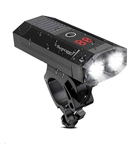 Supoggy Luci per bici / bicicletta, 5200mAh USB ricaricabile per bici con batteria mobile Smart LED Luci anteriori