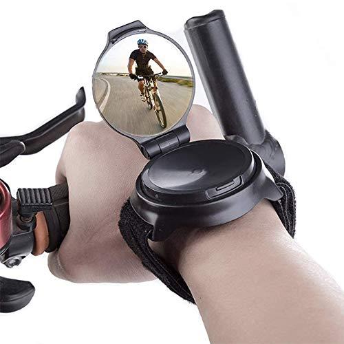 Specchietto Retrovisore per Bicicletta, Specchietto Retrovisore Polso Bicicletta, Grandangolo Bicicletta Specchietto, Ciclismo Bici Specchietto, per Accessori Equitazione Bici Strada in Mountain Bike