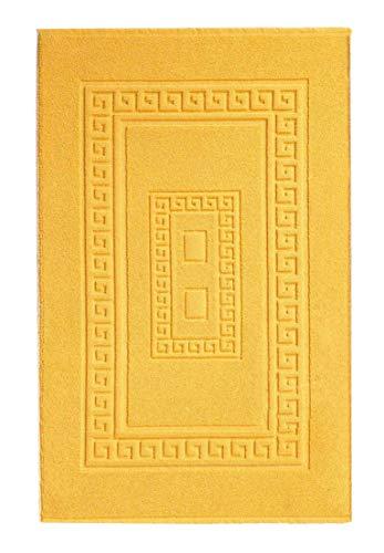 CASA TESSILE Torino Tappeto Bagno in Spugna cm 60X120 - Giallo