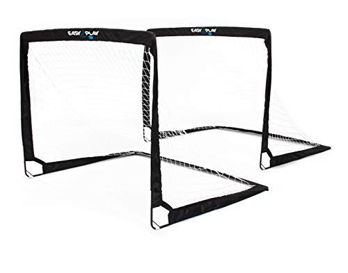 Easy2Play Set di 2 porte da calcio pieghevoli Pop up Goal, da 120 x 90 x 90 cm ciascuna