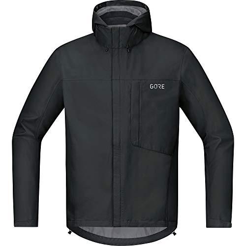 GORE Wear C3 Giacca da uomo con cappuccio GORE-TEX, M, Nero