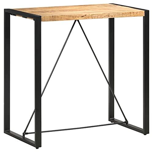 vidaXL Legno Massello di Mango Tavolo da Bar Tavolino da Pub Tavolo Alto per Bistrot Tavolinetto Tavola Mobili per Spazi Commerciali 110x60x110 cm