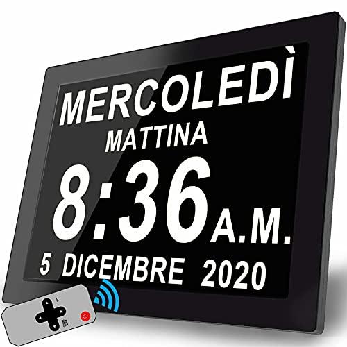 Orologio Parete Sveglia Digitale Da Comodino Calendario Orologio Giorno per La Perdita Di Memoria Anziani Demenza Morbo Di Alzheimer Disturbi