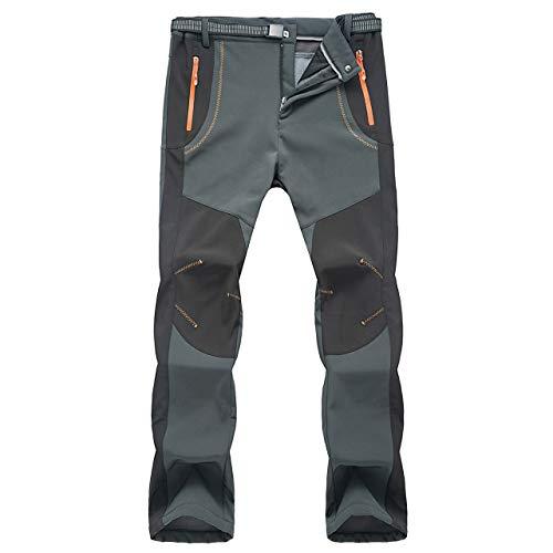 YiLianDa Pantaloni Funzionali Softshell Invernali da Uomo Slim Fit Impermeabili e Traspiranti per Trekking e Sport all'aperto