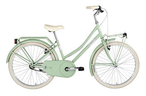 Alpina Bike Olandesina, Bicicletta 1v Bambina, Verde Menta, 24'