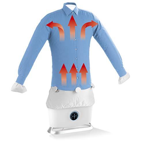 CLEANmaxx ferro da stiro automatico per camicie con funzione vapore   Asciuga e liscia camicie e camicette e sostituisce il ferro da stiro   Stazione di stiratura automatica con 2 programmi