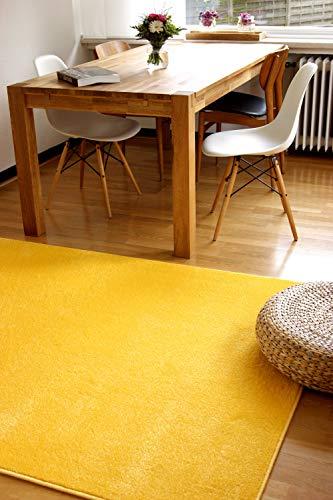 Tappeto moderno Kolibri giallo 200x200cm - colori vivaci e facile da pulire