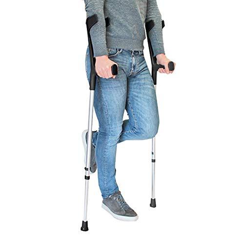 PEPE - Stampelle (2 unità), Stampelle Ortopediche Regolabili, Stampelle Canadesi, Stampelle Ortopediche, Stampella Ortopedica Regolabile, Stampelle antiscivolo, Colore Nero.