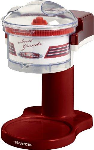 Ariete 78 Sweet Granita Macchina per Granita, Lama Acciaio Inox, Funzione Tritaghiaccio, 30 W, Rosso