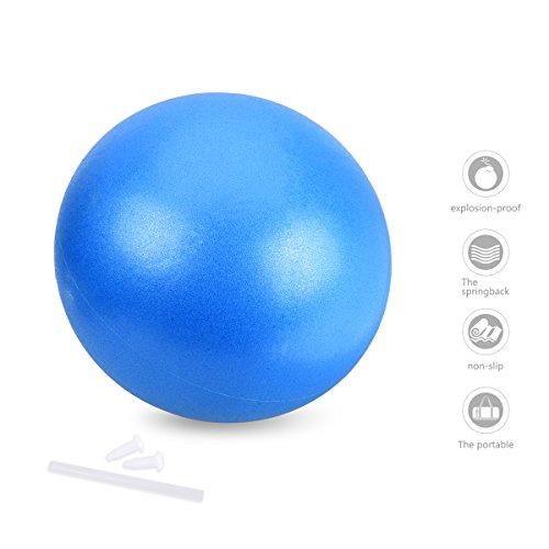 OZUAR Fitness Ball, Palla Pilates per Yoga, Pilates, Fitness, Fisioterapia, Core Cross Training, Palestra ed Esercizio Fisico (Blue, 25cm)