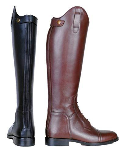 HKM Stivali da equitazione da uomo Spain in in morbida pelle, 9100 nero, 38 EU