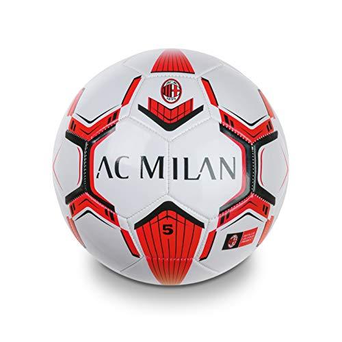 Mondo Toys - Pallone da Calcio cucito A.C. Milan - size 5 - 350 g - colore Rosso/Nero - 13632