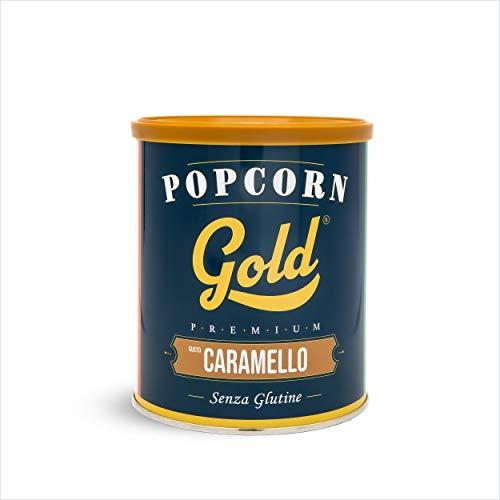 Fun Food Italia Popcorn Gold Premium, Senza Glutine, Gusto Caramello, in Barattolo da 60 G